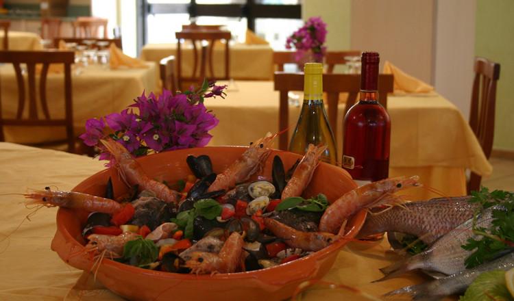 Specialità di frutti di mare e gamberi