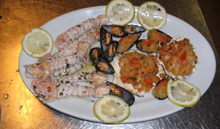 Specialità di mare del ristorante San Domino