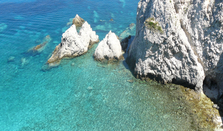 Roccia calcarea isola di S. Domino